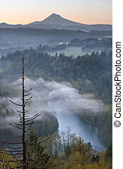 Mount Hood and Sandy River at Sunrise