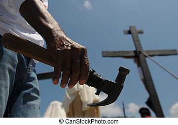 San Pedro Cutud Lenten Rites - Picture of a hand holding an...