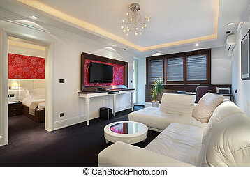 Hotel apartment - Interior of a hotel apartment with...