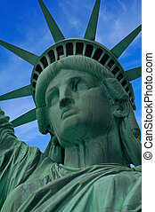 Lady Liberty - Closeup of the Statue of Liberty on Liberty...