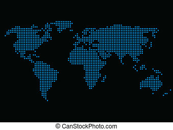 World Map - Vector illustration of the World map composed of...