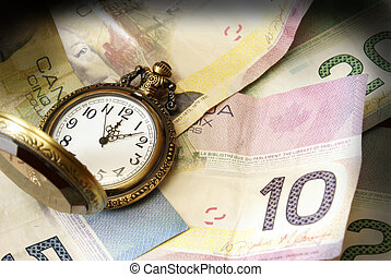 Time is Money - A conceptual image referring to the saying...