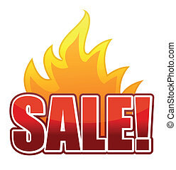Fire Sale text illustration design