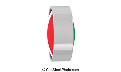 Italian flag with circular frame