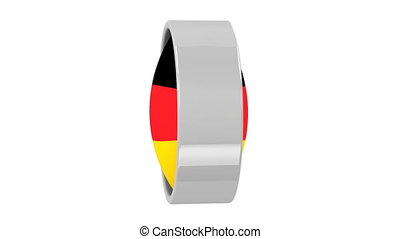 German flag with circular frame
