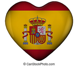 Heart with flag of spain