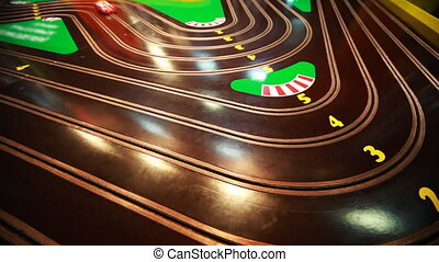 children game track with small cars