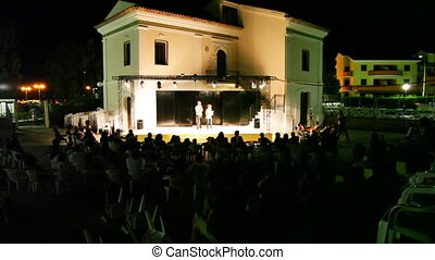 Animation team entertain tourists - CALABRIA, ITALY - JULY...