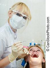 dental, médico, tratamento