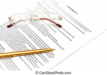 legal contract papers