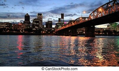 Portland Oregon Downtown Dusk - Portland Oregon Downtown...
