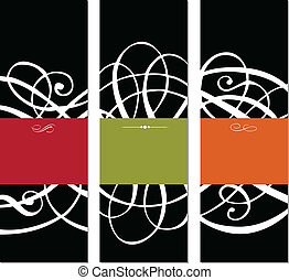Vector Black Set of 3 Modern Frames. Easy to edit. Perfect...