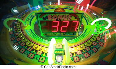 slot machine with rotating bulbs, child slots - colorful...