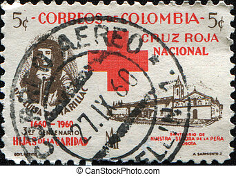 St. Luisa de Marillac and Sanctuary - COLOMBIA - CIRCA 1960:...