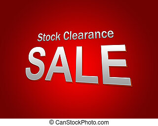 stock clearance sale text