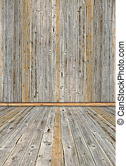 old wooden planks interior - vintage brown wooden planks...