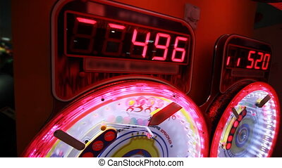slot machine, that rotates, panorama from the top down -...