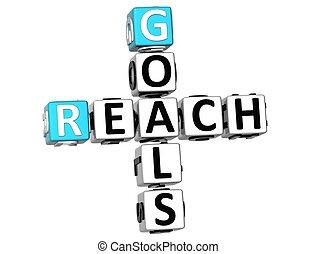 3D Reach Goals Crossword