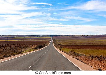 Empty country road