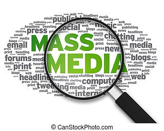 Magnifying Glass - Mass Media - Magnified illustration with...