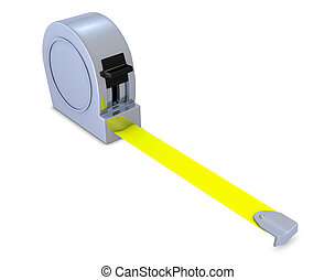 tape measure - one tape measure with no signs or symbols for...
