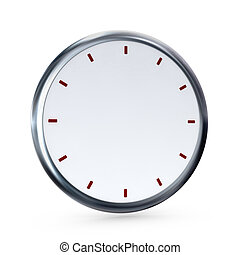 empty clock - one clock without numbers and hands for...