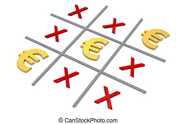 tic tac toe - the popular tic tac toe game with the euro...