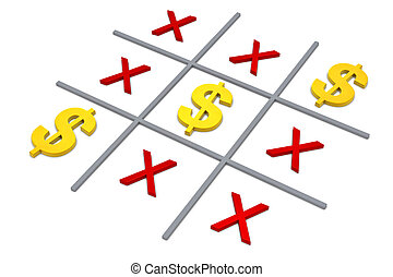 tic tac toe - the popular tic tac toe game with the dollar...