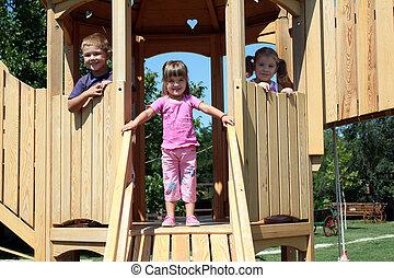 three little children