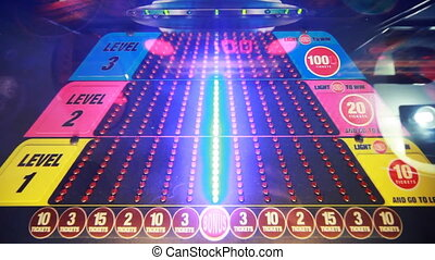 slot machine with red and blue bulbs, child slots - colorful...