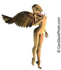 Nude Golden Angel