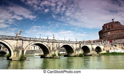 Saint Angelo Bridge and Saint Angelo Castel the view from...