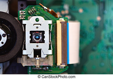 Optical Device - Close up shot of an optical device. This...