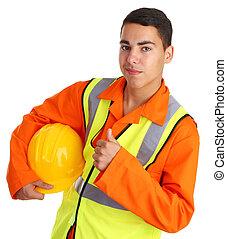 happy workman