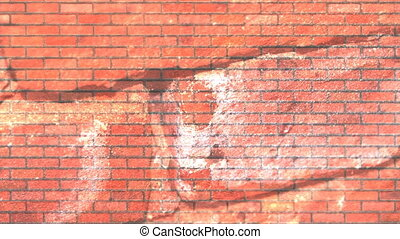 Bricks Abstract Background Loop - Industrial Red Brick...