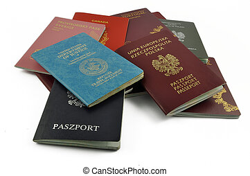 other travel documents isolated on a white background