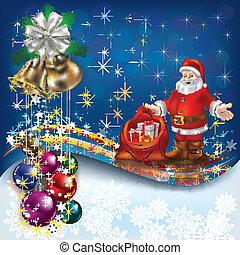 Christmas greeting with Santa