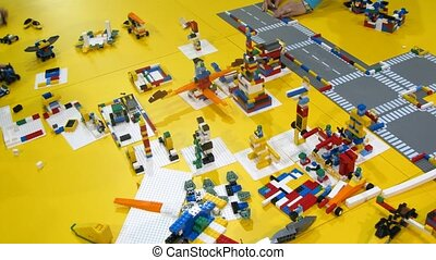 Lego constructor is cleaned after ROBOFEST-2011 - MOSCOW -...