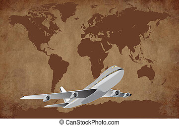 Tourism and travel - Aircrafts fly all over the world...