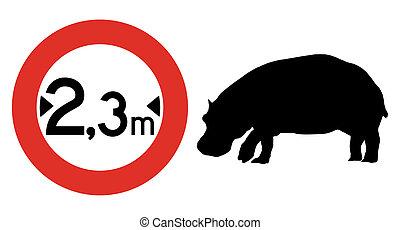 Width traffic limit signal