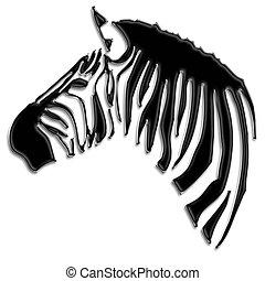 Zebra (Equus burchellii). African wildlife zebra portrait...