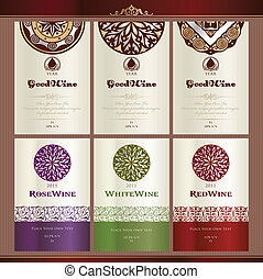 Collection of wine labels - Set of wine label templates