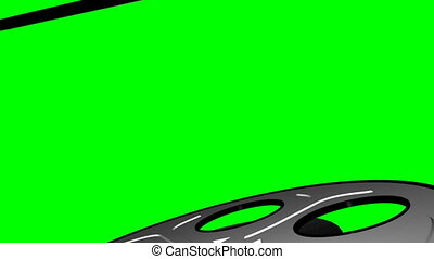 Film Reel on Green Screen Loop 3 - Old Fashioned Film Reel...