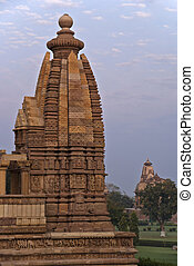 Side dome of Hindu temple, built by Chandela Rajputs - Over...