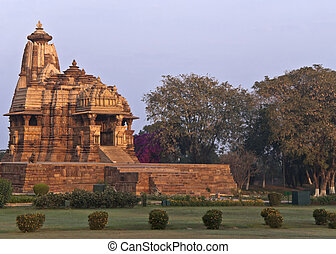 Hindu temple, built by Chandela Rajputs - Lone temple in...