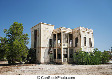 colonial house in massawa eritrea - italian colonial house...