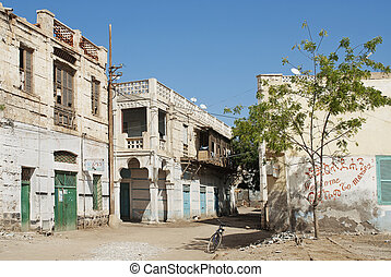 massawa old town in eritrea - massawa old town street in...