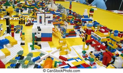 Lego used to construct robots during ROBOFEST-2011 - MOSCOW...