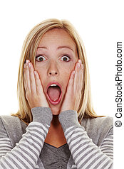 unsuspecting woman is stunned - An unsuspecting woman is...