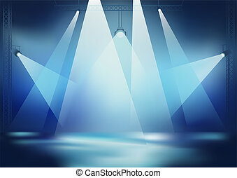 Stage Light - Background for Dance Party Wallpaper, Vector